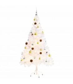 Χριστουγεννιάτικο Δέντρο Στολισμένο με Μπάλες/LED Λευκό 150 εκ.  246395