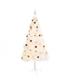 Χριστουγεννιάτικο Δέντρο Στολισμένο με Μπάλες/LED Λευκό 180 εκ.  246396