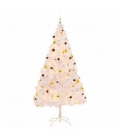 Χριστουγεννιάτικο Δέντρο Στολισμένο με Μπάλες/LED Λευκό 210 εκ.  246397