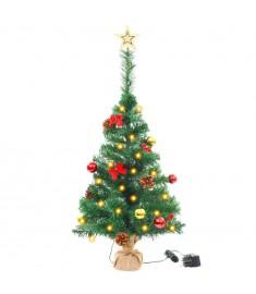 Χριστουγεννιάτικο Δέντρο Στολισμένο Μπάλες/LED Πράσινο 64 εκ.  246401
