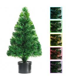 Χριστουγεννιάτικο Δέντρο Τεχνητό Πράσινο 64 εκ. με Οπτικές Ίνες  246402