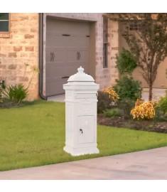 Γραμματοκιβώτιο Vintage Στιλ Λευκό με Αντοχή στη Σκουριά  43889