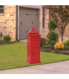 Γραμματοκιβώτιο Vintage Στιλ Κόκκινο με Αντοχή στη Σκουριά  43891