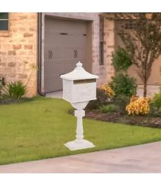 Γραμματοκιβώτιο με Βάση Vintage Στιλ Λευκό Αντοχή στη Σκουριά   43894