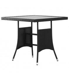 Τραπέζι Κήπου Μαύρο 80 x 80 x 74 εκ. από Συνθετικό Ρατάν  43930
