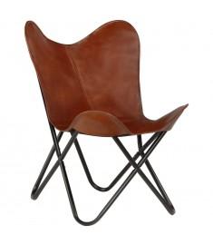Καρέκλα Πεταλούδα Παιδική Καφέ από Γνήσιο Δέρμα  246384