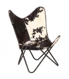 Καρέκλα Πεταλούδα Ασπρόμαυρη από Γνήσιο Δέρμα Κατσίκας  246390
