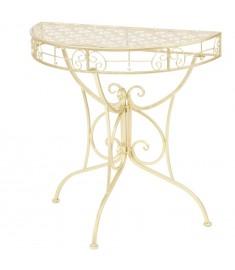 Τραπέζι Βοηθητικό Ημικυκλικό Vintage Χρυσό 72x36x74 εκ. Μέταλλο   245930