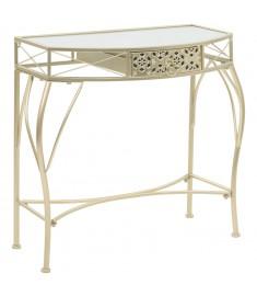 Βοηθητικό Τραπέζι Γαλλικό Στιλ Χρώμα Χρυσό 82x39x76 εκ. Μέταλλο   245936