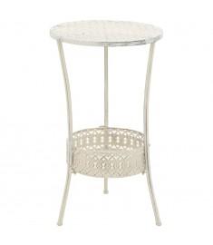 Τραπέζι Bistro Vintage Στρογγυλό Λευκό 40 x 70 εκ. Μεταλλικό  245938