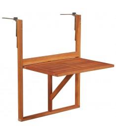 Τραπέζι Μπαλκονιού Καφέ από Μασίφ Ξύλο Ακακίας  44118