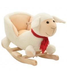 Κουνιστό Παιχνίδι με Πλάτη Πρόβατο Λευκό 60x32x50 εκ. Λούτρινο   80224