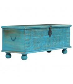 Μπαούλο Αποθήκευσης Μπλε 100x40x41 εκ. από Μασίφ Ξύλο Μάνγκο  246479