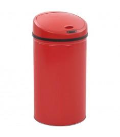 Κάδος Απορριμμάτων με Αισθητήρα Κόκκινος 42 Λίτρα  50717
