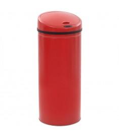 Κάδος Απορριμμάτων με Αισθητήρα Κόκκινος 62 Λίτρα  50719