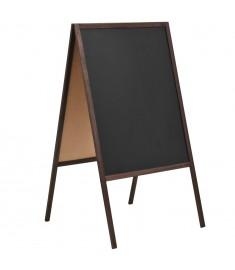 Μαυροπίνακας Επιδαπέδιος Διπλής Όψης 60x80 εκ. από Ξύλο Κέδρου  246428