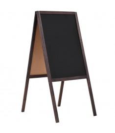 Μαυροπίνακας Επιδαπέδιος Διπλής Όψης 40x60 εκ. από Ξύλο Κέδρου   246430