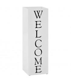 Ομπρελοθήκη με Σχέδιο «Welcome» Λευκή Ατσάλινη   246797