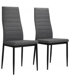 Καρέκλες Τραπεζαρίας 2 τεμ. Ανοιχτό Γκρι Υφασμάτινες  246181