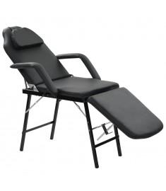 Καρέκλα Αισθητικής Φορητή Μαύρη 185x78x76 εκ. Συνθετικό Δέρμα   110160