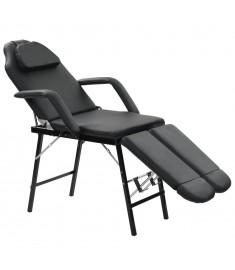 Καρέκλα Αισθητικής Φορητή Μαύρη 185x78x76 εκ. Συνθετικό Δέρμα   110161