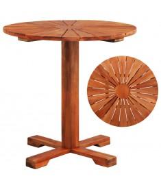 Τραπέζι Κολόνα Στρογγυλό 70 x 70 εκ. από Μασίφ Ξύλο Ακακίας  44037