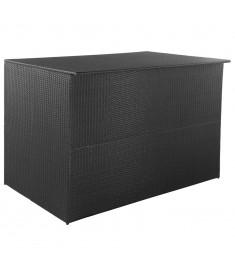 Μπαούλο Εξωτερικού Χώρου Μαύρο 150x100x100 εκ. Συνθετικό Ρατάν  44245