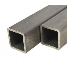 Χαλυβδοσωλήνες Κατασκευών 4 τεμ. Τετράγωνοι 1 μ. 40x40x2 χιλ.  143107