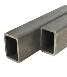 Χαλυβδοσωλήνες Κατασκευών 6 τεμ. Ορθογώνιοι 1 μ. 40x20x2 χιλ.   143125