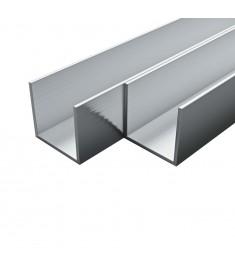 Προφίλ Σχήματος Π 4 τεμ. 2 μ. / 10 x 10 x 2 χιλ. από Αλουμίνιο