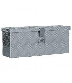 Κουτί Αποθήκευσης Ασημί 48,5 x 14 x 20 εκ. Αλουμινίου  142935