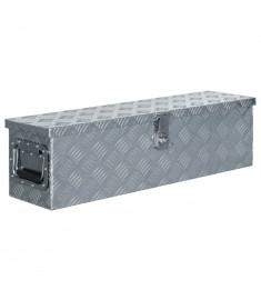 Κουτί Αποθήκευσης Ασημί 80,5 x 22 x 22 εκ. Αλουμινίου  142937
