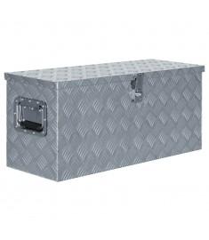 Κουτί Αποθήκευσης Ασημί 80 x 30 x 35 εκ. Αλουμινίου  142939