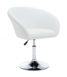 Καρέκλα Τραπεζαρίας Περιστρ. Λευκή 67,5x58,5x87 εκ. Δερματίνη    246908