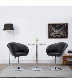 Καρέκλα Τραπεζαρίας Περιστρ. Μαύρη 67,5x58,5x87 εκ. Δερματίνη   246909