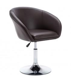 Καρέκλα Τραπεζαρίας Περιστρ. Καφέ 67,5x58,5x87 εκ. Δερματίνη   246911