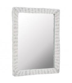 Καθρέφτης Λευκός 60 x 80 εκ. από Wicker   246841