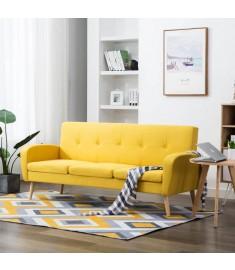 Καναπές Τριθέσιος Κίτρινος Υφασμάτινος   246992