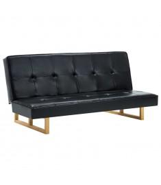 Καναπές - Κρεβάτι Μαύρος από Συνθετικό Δέρμα   247026