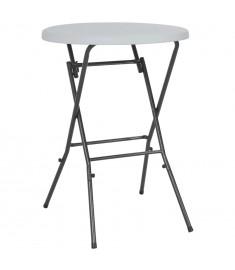 Τραπέζι Μπαρ Πτυσσόμενο Λευκό 80 x 110 εκ. από HDPE  44560