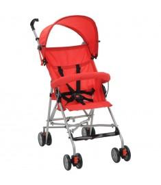 Καρότσι Παιδικό Πτυσσόμενο Κόκκινο Ατσάλινο  10147