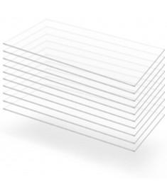 Φύλλα Πλεξιγκλάς 10 τεμ. Διάφανα 60 x 120 εκ. / 2 χιλ. Ακρυλικά   143518