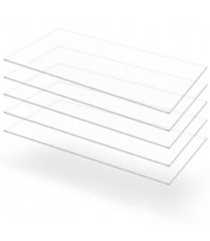 Φύλλα Πλεξιγκλάς 5 τεμ. Διάφανα 60 x 120 εκ. / 3 χιλ. Ακρυλικά  143521