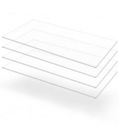 Φύλλα Πλεξιγκλάς 4 τεμ. Διάφανα 60 x 120 εκ. / 4 χιλ. Ακρυλικά  143523