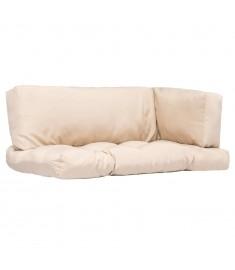 Μαξιλάρια για Παλέτες 3 τεμ. Χρώμα της Άμμου από Πολυεστέρα   44649