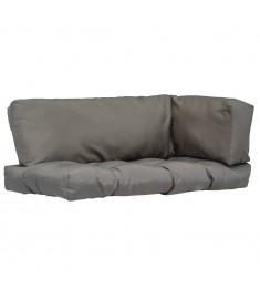 Μαξιλάρια για Παλέτες 3 τεμ. Γκρι από Πολυεστέρα   44652