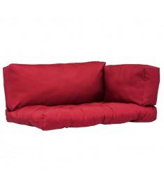 Μαξιλάρια για Παλέτες 3 τεμ. Κόκκινα από Πολυεστέρα   44655