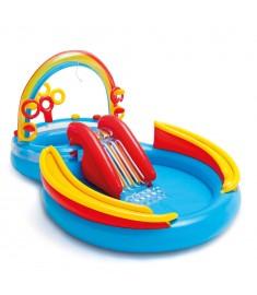 Intex Πισίνα Φουσκωτή Rainbow Ring Play Center 297x193x135 εκ. 57453NP  91526
