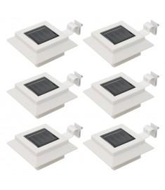 Φωτιστικά Εξωτ. Χώρου Ηλιακά 6 τεμ. LED Τετράγωνα Λευκά 12 εκ.  44469