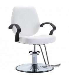 Πολυθρόνα Κουρείου Λευκή από Συνθετικό Δέρμα   110162